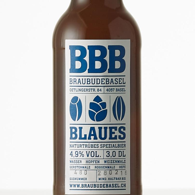 BBB Blaues Bier Etikette