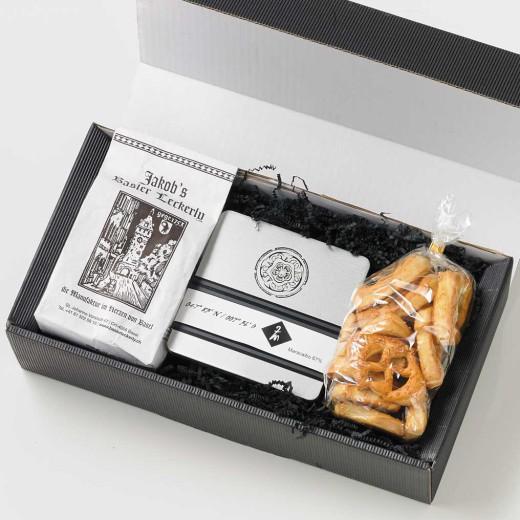 Geschenkbox Firmengeschenk Welcome Basel