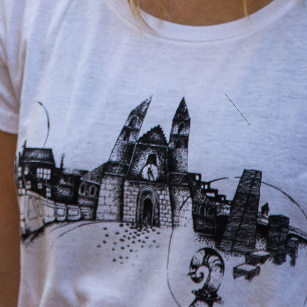 WandArt T-Shirt Basel Ladies Souvenir