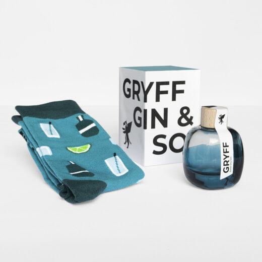 Geschenkbox Gryff Gin und Socken