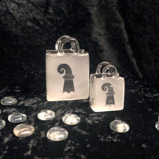 Minihandtasche aus Glas Atelier Sandwerk Riehen
