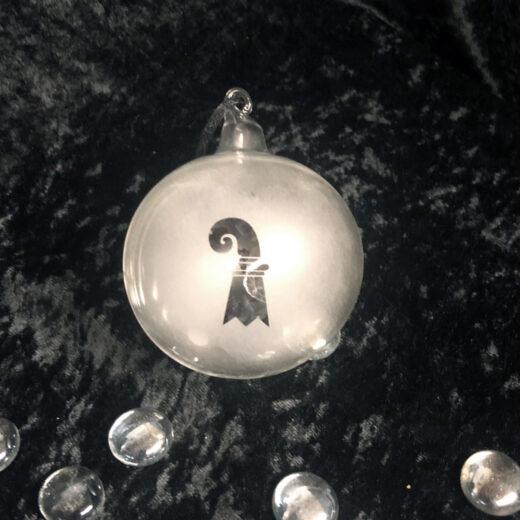 Weihnachtskugel Baselstab, Atelier Sandwerk Riehen