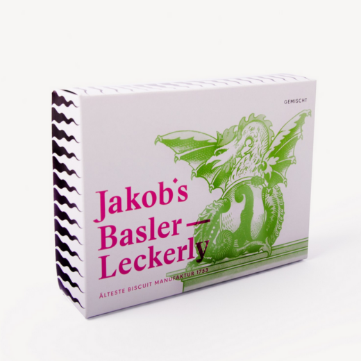 Jakob's Basler Leckerly Boxgemischt Basilisk Basel Läckerli