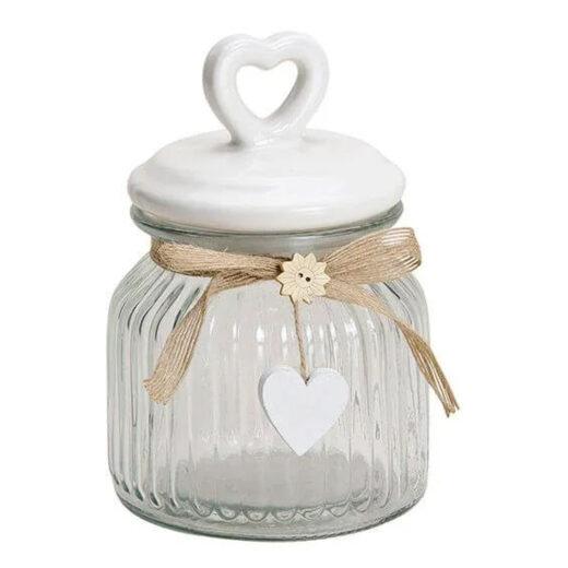 Vorratsglas mit Herz