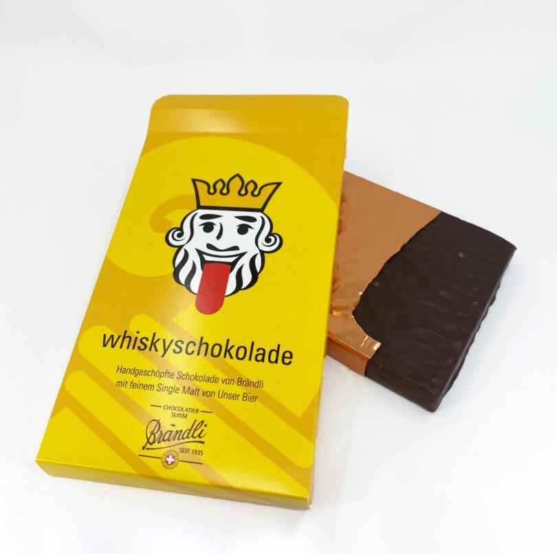 Whiskyschokolade Unser Bier Braendli Whiskeyschokolade Schoggi